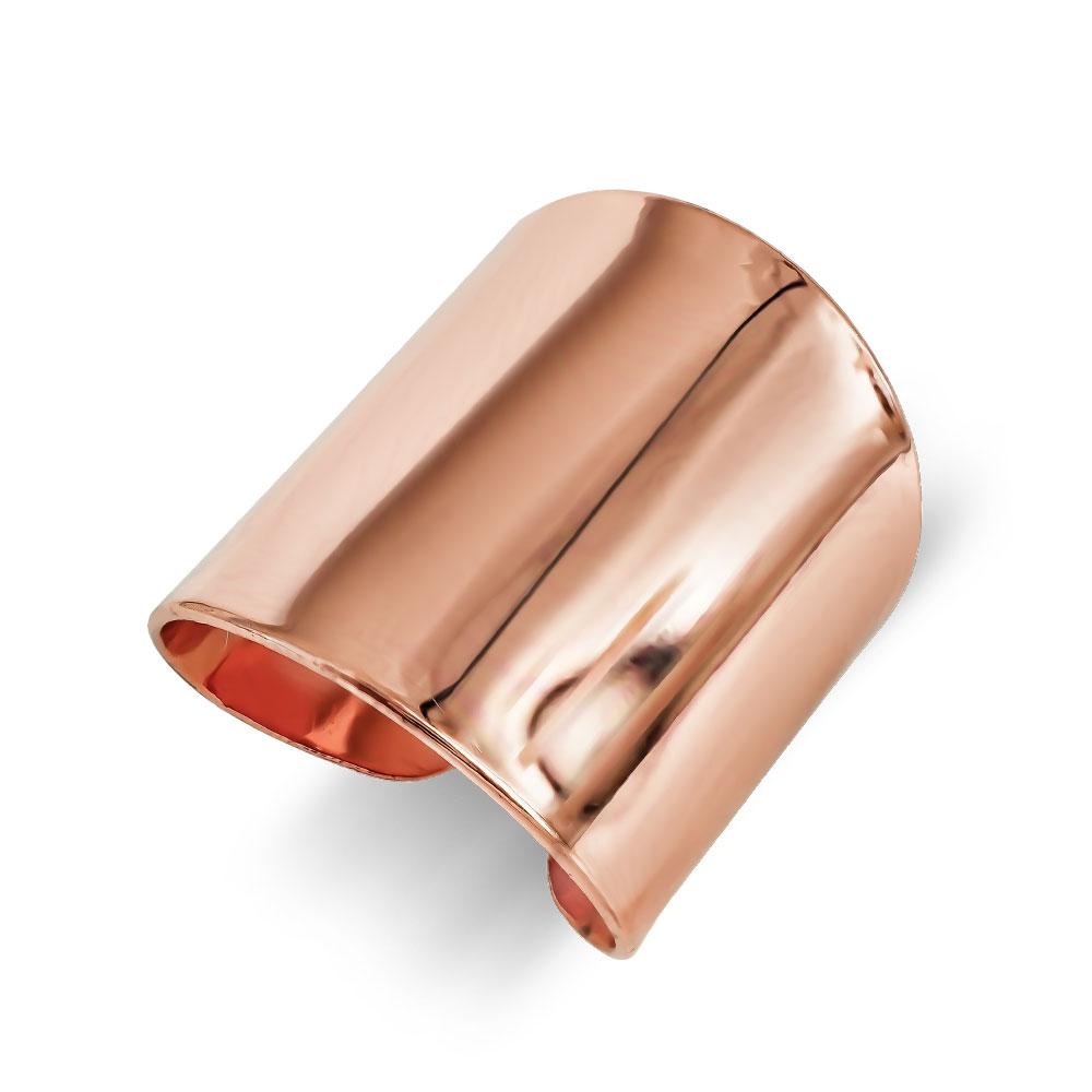 Δαχτυλίδι Φαρδύ από Ροζ Επιχρυσωμένο Ατσάλι DX690