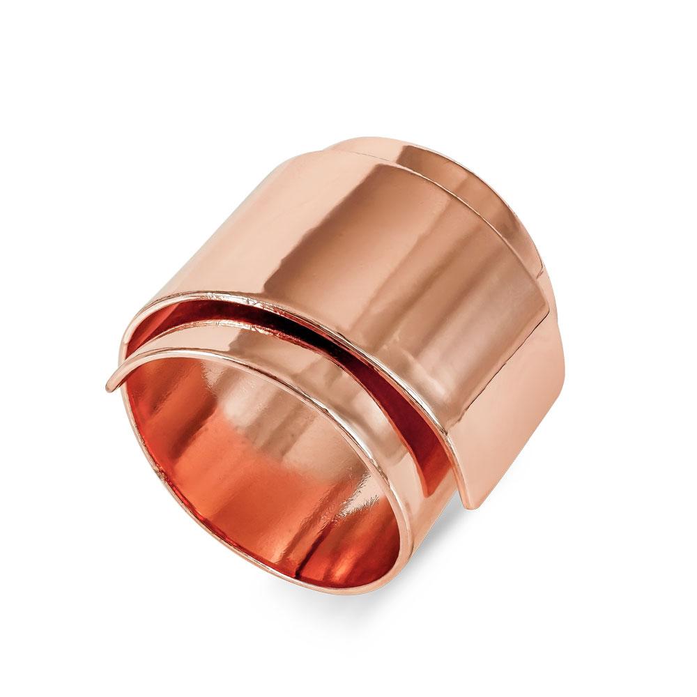 Δαχτυλίδι από Ροζ Επιχρυσωμένο Ατσάλι DX691