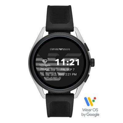 Emporio ARMANI Matteo Touchscreen Smartwatch Black Rubber Strap ART5021