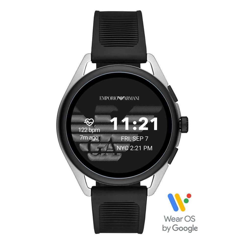 Emporio ARMANI Matteo Touchscreen Smartwatch Black Rubber Strap ART5021