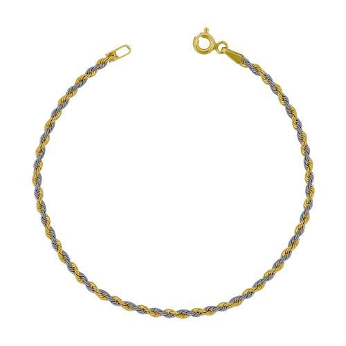 Bραχιόλι από Δίχρωμο Χρυσό Κ14 VR789