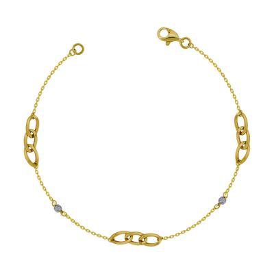 Bραχιόλι από Δίχρωμο Χρυσό Κ14 VR779