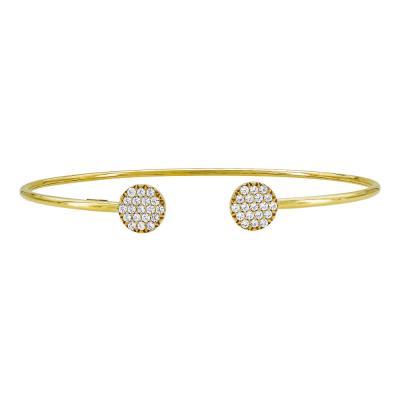 Βραχιόλι Με Πέτρες από Κίτρινο Χρυσό Κ14 VR793