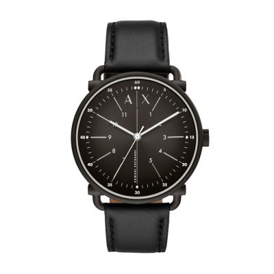ARMANI EXCHANGE Rocco Black Leather Strap AX2903