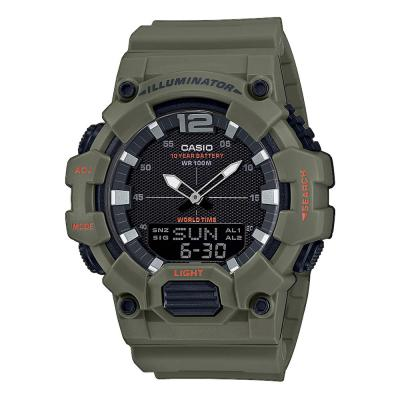 CASIO Collection Khaki Rubber Strap HDC-700-3A2VEF
