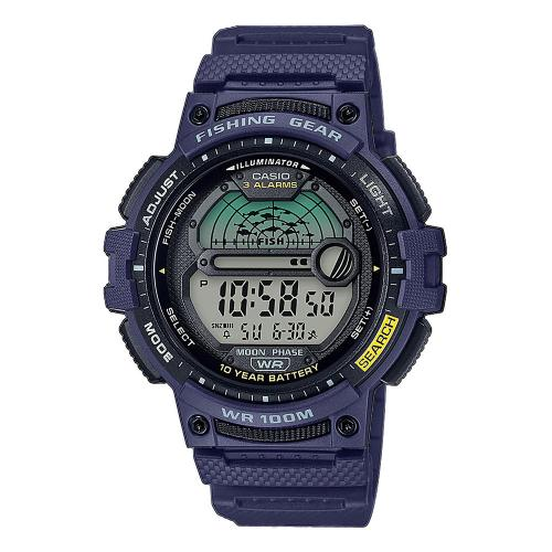 CASIO Collection Blue Rubber Strap WS-1200H-2AVEF