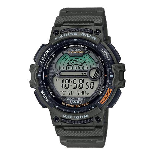 CASIO Collection Green Rubber Strap WS-1200H-3AVEF