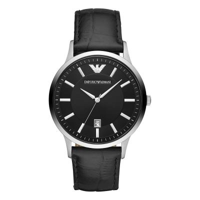 EMPORIO ARMANI Renato Black Leather Strap AR11186