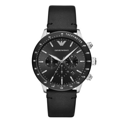 EMPORIO ARMANI Mario Black Leather Strap AR11243