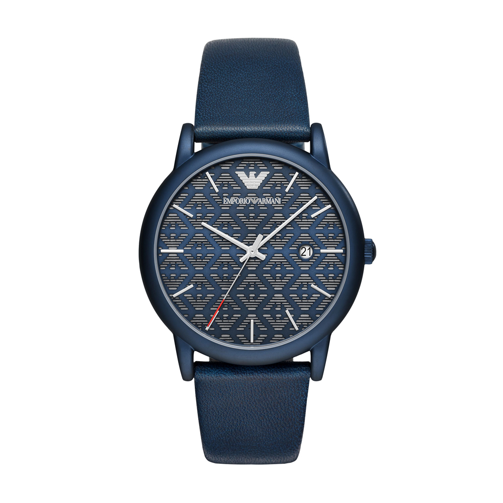 EMPORIO ARMANI Luigi Blue Leather Strap AR11304