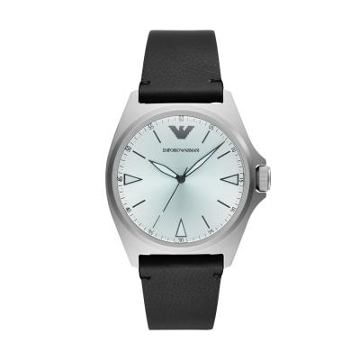 EMPORIO ARMANI Nicola Black Leather Strap AR11308