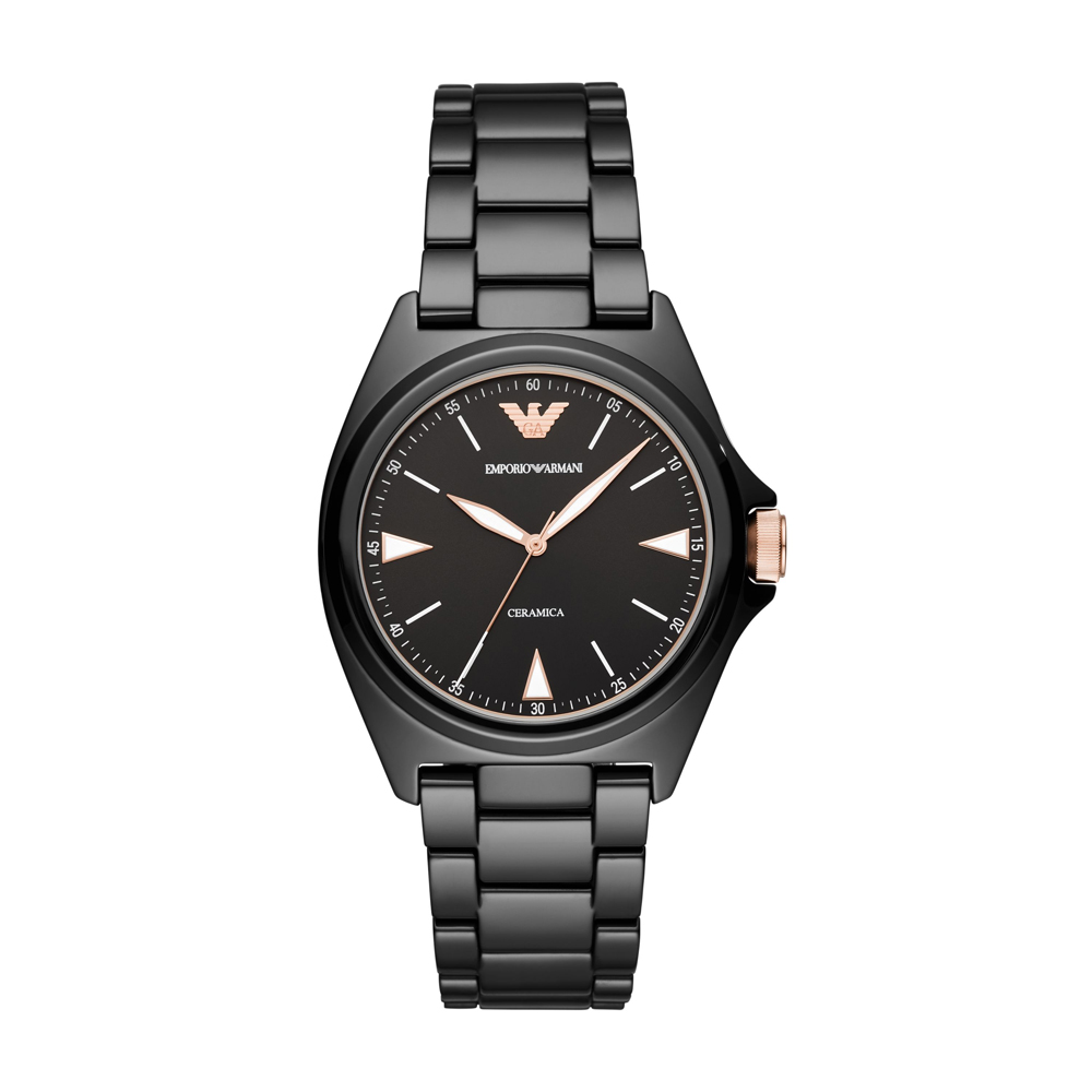 EMPORIO ARMANI Nicola Black Ceramic Bracelet AR70003