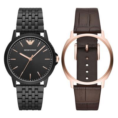 EMPORIO ARMANI Boxed Black Stainless Steel Bracelet AR80021