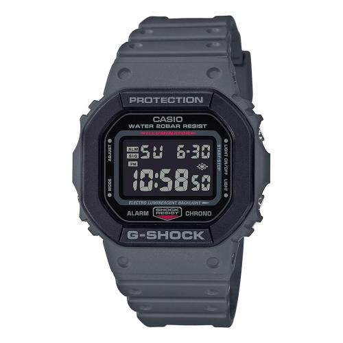 CASIO G-SHOCK Grey Rubber Strap DW-5610SU-8ER