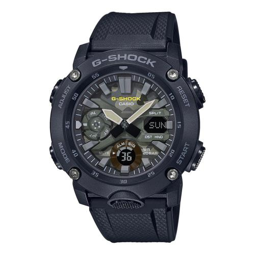 CASIO G-SHOCK Carbon Black Rubber Strap GA-2000SU-1AER