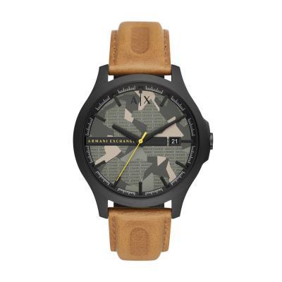 ARMANI EXCHANGE Hampton Brown Leather Strap AX2412