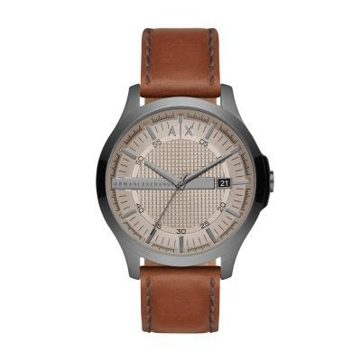 ARMANI EXCHANGE Hampton Βrown Leather Strap AX2414