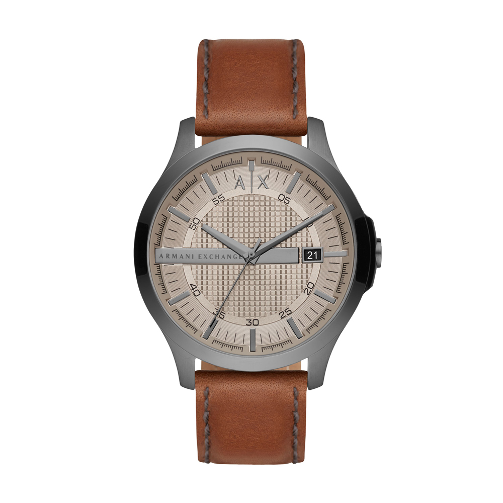 ARMANI EXCHANGE Hampton Βrown Leather Strap AX2414