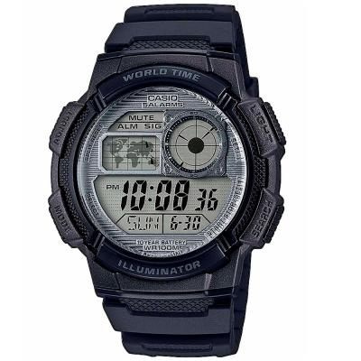 CASIO Collection Black Rubber Strap AE-1000W-7AVEF