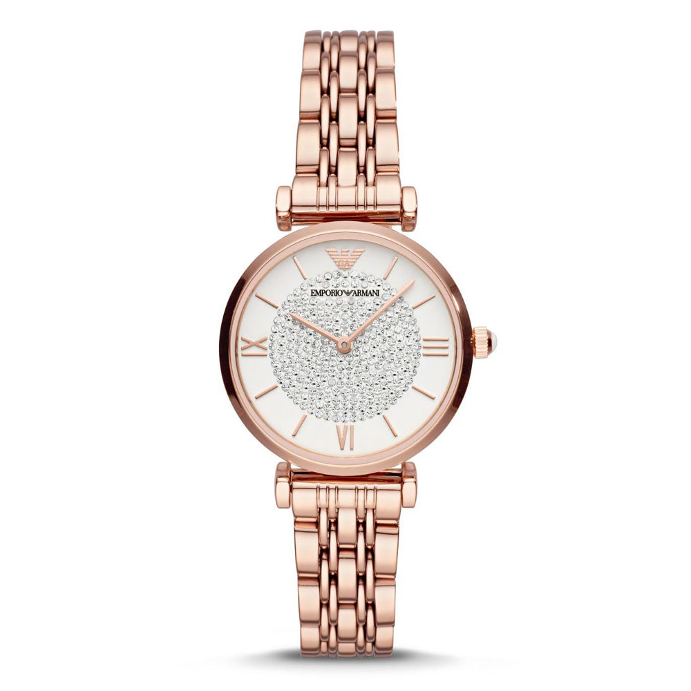 EMPORIO ARMANI Gianni T-Bar Rose Gold Stainless Steel Bracelet AR11244
