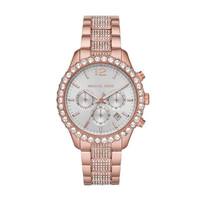 MICHAEL KORS Layton Crystals Rose Gold Stainless Steel Chronograph MK6791