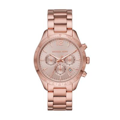 MICHAEL KORS Layton Rose Gold Plated Stainless Steel Bracelet MK6796