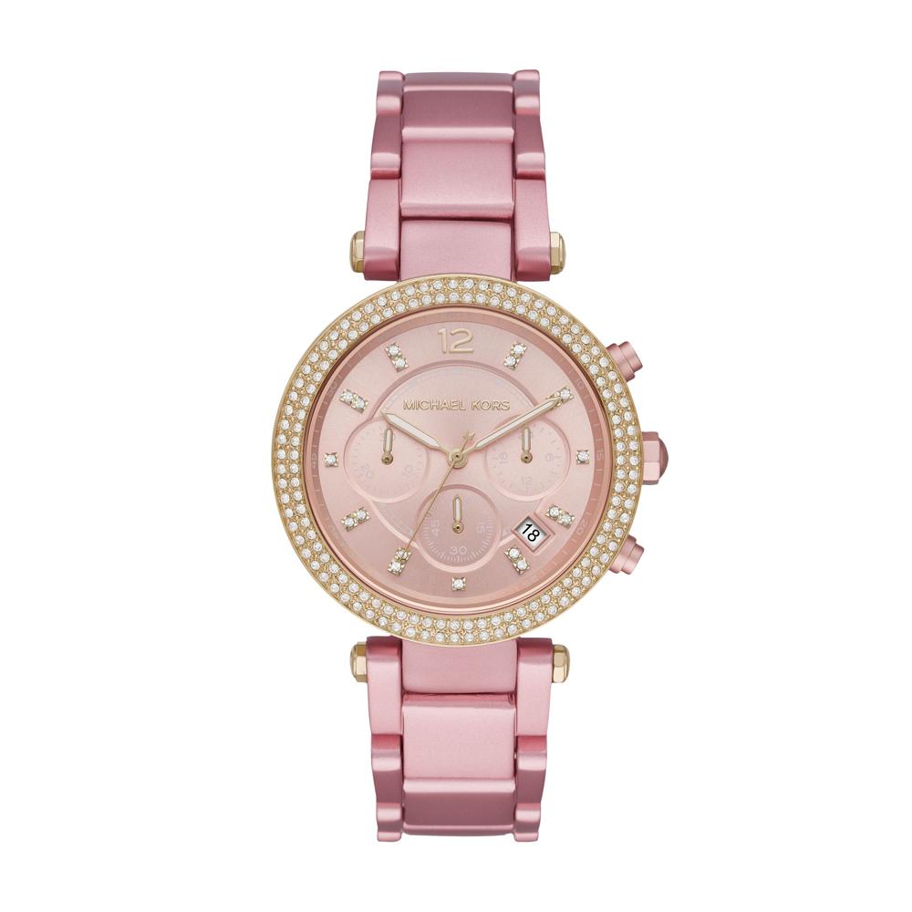 Michael KORS Parker Crystals Rose Stainless Steel Bracelet MK6806