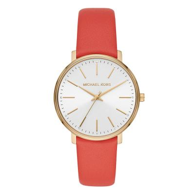 MICHAEL KORS Pyper Crystals Rose Gold Red Leather Strap MK2892