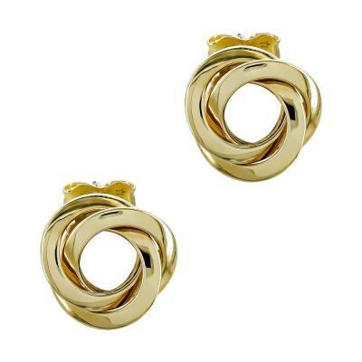 Σκουλαρίκια Κρίκοι από Κίτρινο Χρυσό Κ14 SK1230