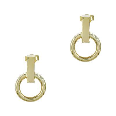 Σκουλαρίκια Κύκλοι από Κίτρινο Χρυσό Κ14 SK1222