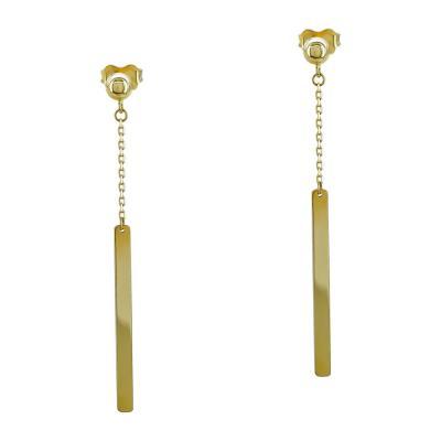 Σκουλαρίκια Κρεμαστά από Κίτρινο Χρυσό Κ14 SK1231