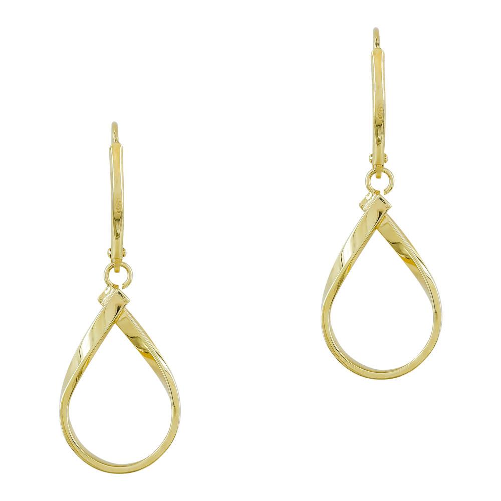 Σκουλαρίκια Δάκρυ από Κίτρινο Χρυσό Κ14 SK1232