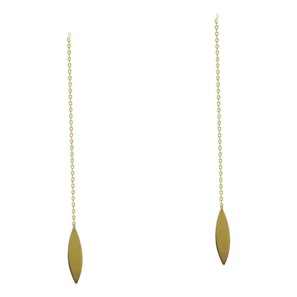 Σκουλαρίκια Κρεμαστά από Κίτρινο Χρυσό Κ14 SK1234