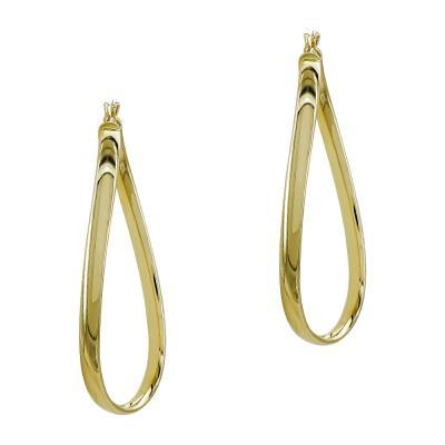 Σκουλαρίκια Κρίκοι από Κίτρινο Χρυσό Κ14 SK1211