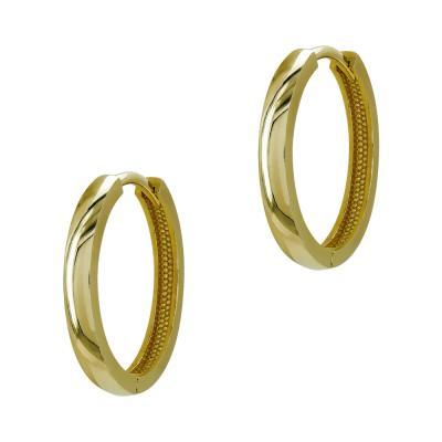 Σκουλαρίκια Κρίκοι από Κίτρινο Χρυσό Κ14 SK1220