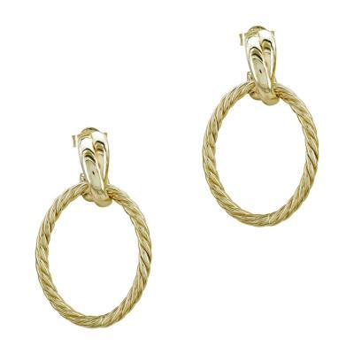 Σκουλαρίκια Κρίκοι από Κίτρινο Χρυσό Κ14 SK1223