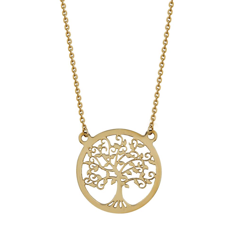 Κολιέ με To Δέντρο Της Ζωής από Ροζ Χρυσό Κ9 KL106108