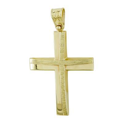Σταυρός Βάπτισης Ανδρικός Σε Κίτρινο Χρυσό Κ14 ST2729
