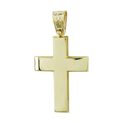 Σταυρός Βάπτισης Ανδρικός Σε Κίτρινο Χρυσό Κ14 ST2738