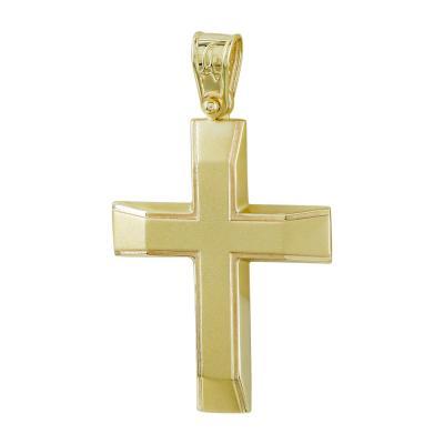 Σταυρός Βάπτισης Ανδρικός Σε Κίτρινο Χρυσό Κ14 ST2718