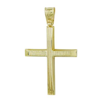 Σταυρός Βάπτισης Ανδρικός Σε Κίτρινο Χρυσό Κ14 ST2700