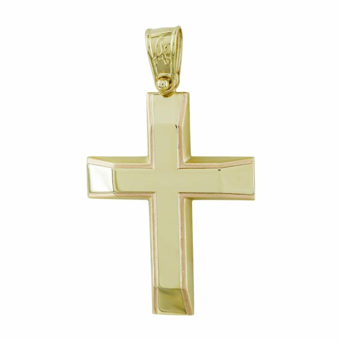 Σταυρός Βάπτισης Ανδρικός Σε Κίτρινο Χρυσό Κ14 ST2739