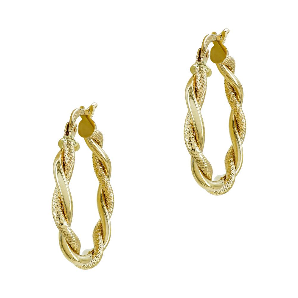 Σκουλαρίκια Κρίκοι από Κίτρινο Χρυσό Κ14 SK1235
