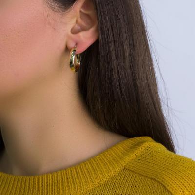 Σκουλαρίκια Κρίκοι από Κίτρινο Χρυσό Κ14 SK1236
