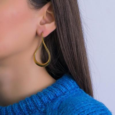 Σκουλαρίκια Κρίκοι από Κίτρινο Χρυσό Κ18 SK1239