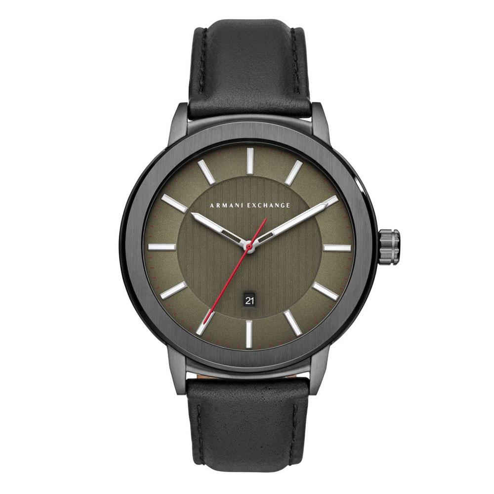 ARMANI EXCHANGE Maddox Black Leather Strap AX1473