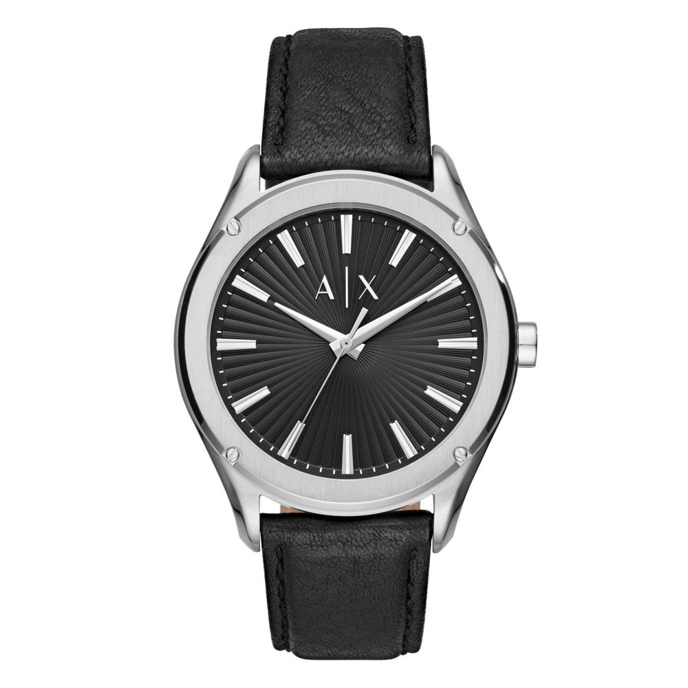 ARMANI EXCHANGE Fitz Black Leather Strap AX2803