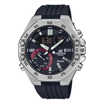 CASIO Edifice Bluetooth Black Rubber Strap ECB-10P-1AEF
