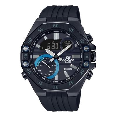 CASIO Edifice Bluetooth Black Rubber Strap ECB-10PB-1AEF