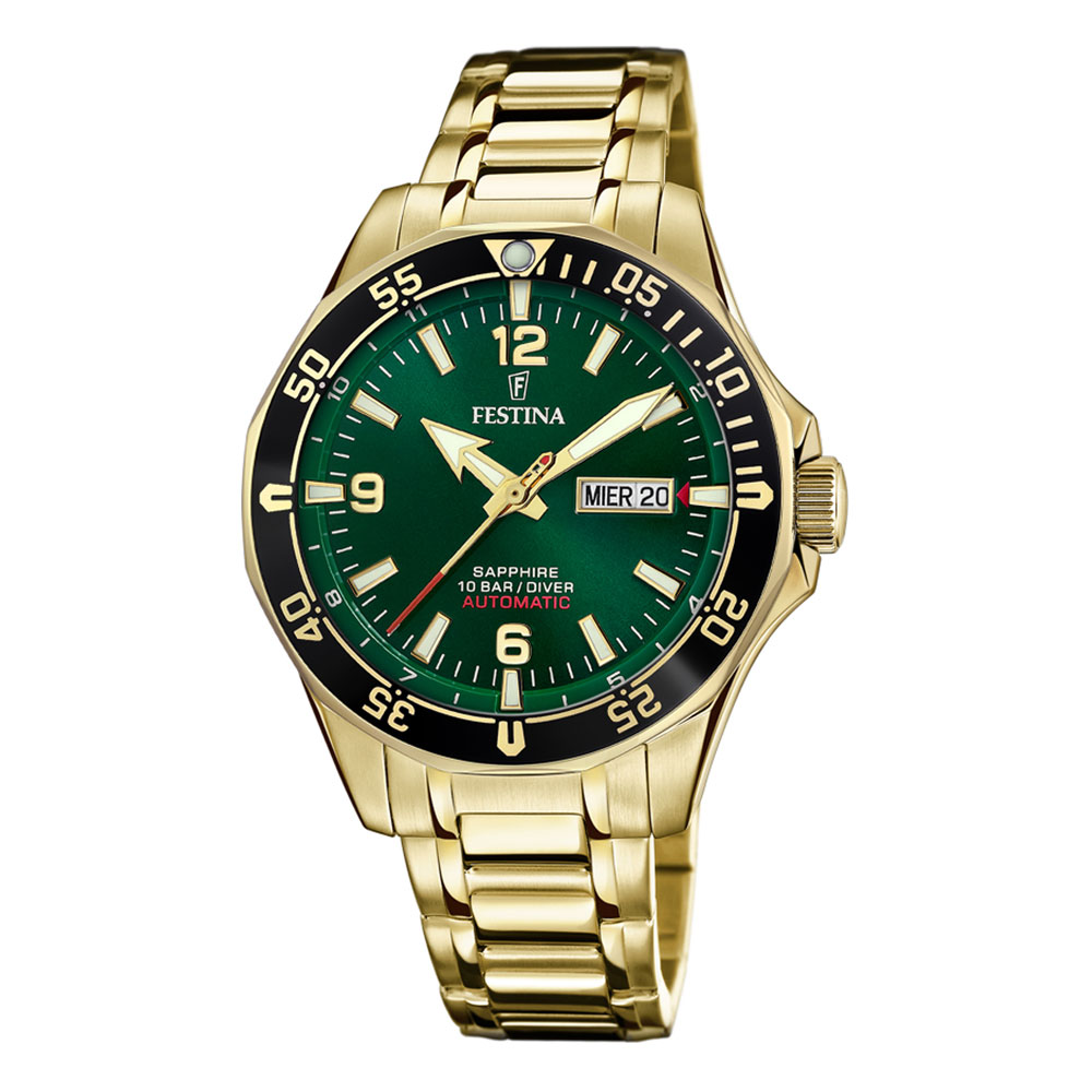 FESTINA Diver Automatic Gold Stainless Steel Bracelet F20479-3